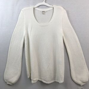 Style & Co winter white pullover scoop neck